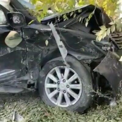 Жуткое ДТП в Семее попало на видео, пострадал несовершеннолетний парень